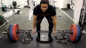 deficit deadlift with chain