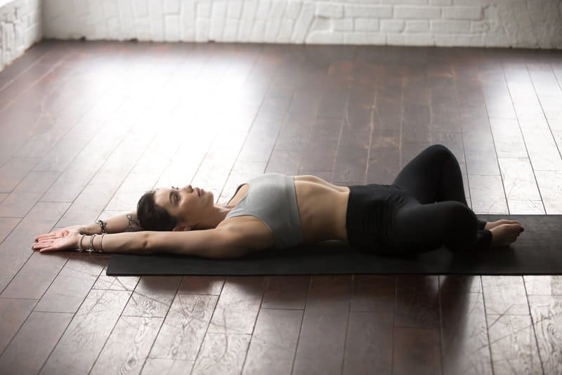 Supta Baddha Konasana Or Reclined Bound angle pose