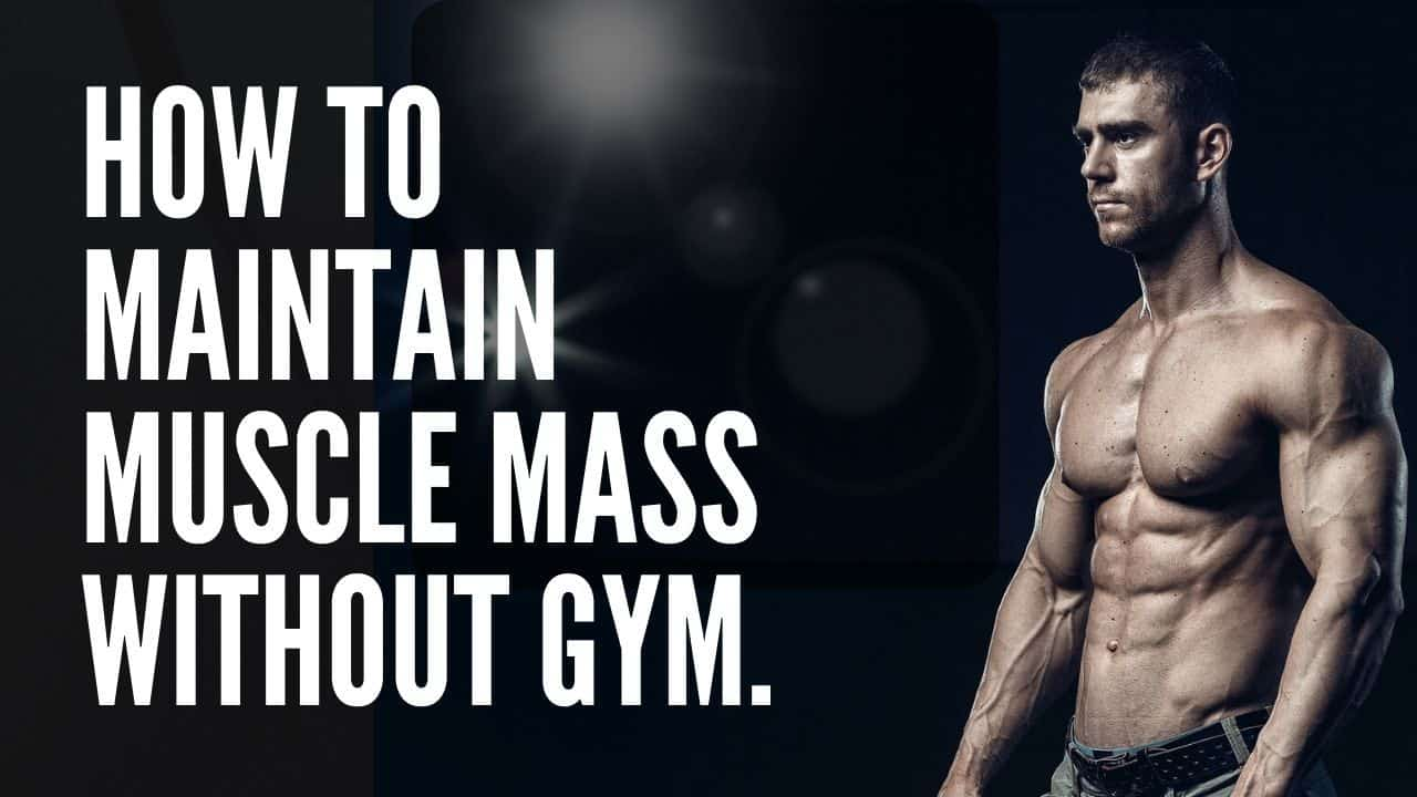 Ho to maintain muscle mass without gym